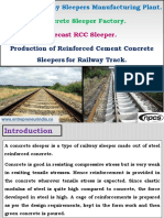 Concrete Railway Sleepers Manufacturing Plant