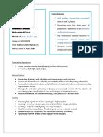 Resume (MD Faisal Morshed)