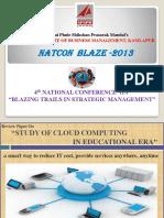 Study of Cloud Computing in Educational Era