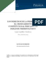 CASTILLO CORDOVA.  Los derechos de la persona en el ordenamiento constitucional.pdf