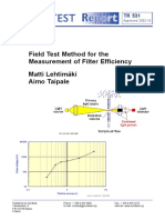 NT TR 531_Field Test Method for the Easurement of Filter Efficiency_Nordtest Technical Report(2)
