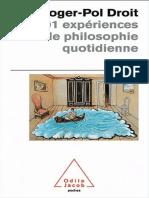101 Experiences de Philosophie Quotidienne - Droit Roger-Pol