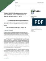 Derecho Procesal Penal II_ Interrogatorio Directo