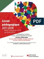 Livret Pédagogique EAD PHILOSOPHIE  2017-2018