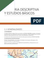 Memoria Descriptiva y Estudios Básicos