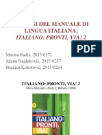 Analisi Del Manuale Italiano Pronti, Via! 2