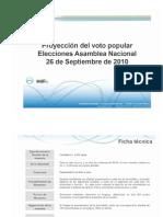 Proyección Electoral 26-S Consultores 21