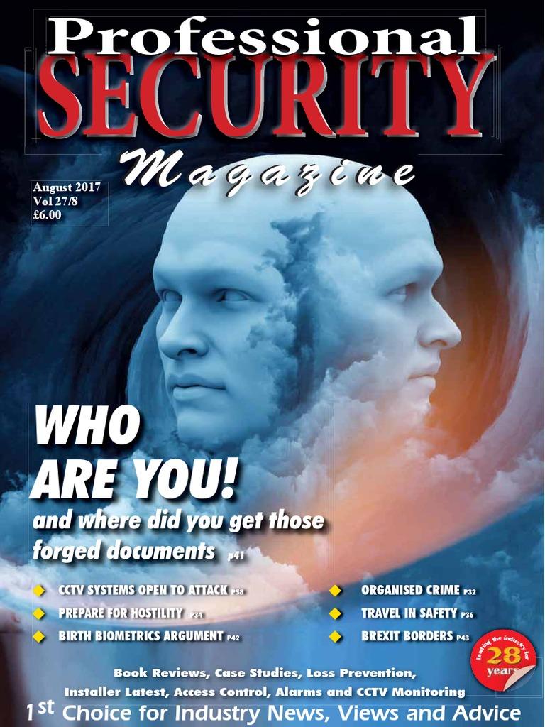 Professional_Security-Aug2017 pdf | Closed Circuit Television