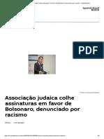 Associação judaica colhe assinaturas em favor de Bolsonaro, denunciado por racismo - Sputnik Brasil.pdf