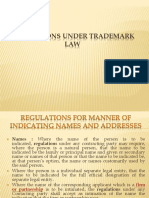 Regulations Under Trademark Law