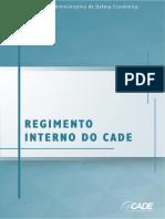 Regimento Interno Do Conselho Administrativo de Defesa Economica 2018