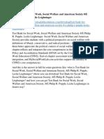 Test Bank for Social Work, Social Welfare and American Society 8/E Philip R. Popple, Leslie Leighninger