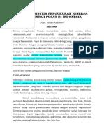 Evaluasi Sistem Pengukuran Kinerja Pemerintah Pusat Di Indonesia