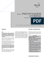 Nissan Pathfinder Hybrid 2014 Owner's Manual