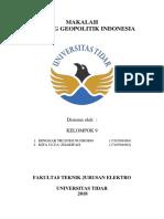Makalah Geopolitik dan Wawasan Nusantara