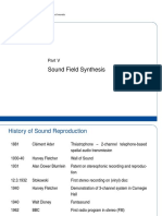 LC Selected Topics Audio Signal Processing 05 Sound Field Synthesis