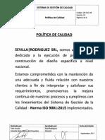 POLÍTICA DE CALIDAD Sevilla Rodriguez SRL.pdf