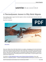 A Thermodynamic Answer to Why Birds Migrate 20180507