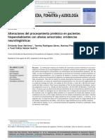 Alteraciones del procesamiento preléxico en pacienteshispanohablantes con afasias sensoriales