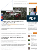 Childs, Westin - 7 Reasons Your Thyroid Lab Tests Are Anything but ''Normal'' - Www.restartmed.com