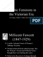 Notable Feminists in the Victorian Era
