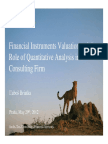 Financial Instruments Valuation and the Role of Quantitative Analysis in a Consulting Firm