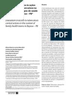Avaliação Do Acesso Às Ações de Controle Da Tuberculose No Contexto Das Equipes de Saúde Da Familia de Bayeux-pb
