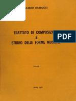 Carducci Edgardo - Trattato Di Composizione e Studio Delle Forme Musicali, Volume I - De SANTIS ROMA 1972