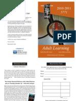 Sinai Adult Education Brochure 2010-2011