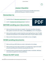 Document Submission WES Checklist