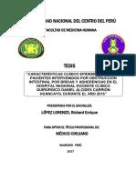 Características Clínico Epidemiológicas de Pacientes Intervenidos Por Obstrucción Intestinal Por