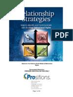 Relationship Strategies BIRDS Sample ReportPrositions