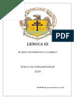 Guía de Lengua 3 - 2018-1
