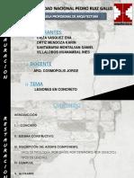 PATOLOGIAS EN EDIFICACIONES DE CONCRETO