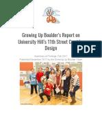 GUB 11th Street Corridor Design Report Fall 2017
