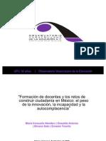 Formación de docentes y los retos de construir ciudadanía en México