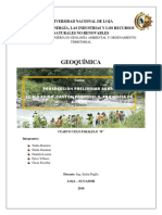 Prospeción Geoquímica Rio Pindo Portovelo