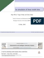 Simulation of linear model data (Simrel R package)