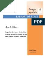 Rapport de Stage - Banque Populaire - La Gestion Du Risque, Démarches Et Etudes de Cas