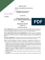 Ley 476 Servicio Civil y Carrera Administrativa