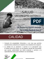 SALUD PÚBLICA - USMP FACULTAD DE MEDICINA - CALIDAD EN LA SALUD