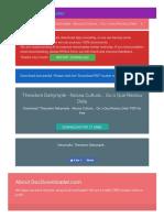 Download PDF Theodore Dalrymple - Nossa Cultura... Ou o Que Restou Dela - Free Download PDF - 7.5MB