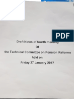 Draft notes 4th meeting of technical committee on pension reforms