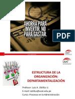 5 Estructura de La Organización Departamentalización