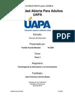 Tecnología de La Información y La Comunicación - Tarea V