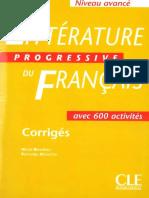Littérature Progressive du français - Avancé Corrigés.pdf