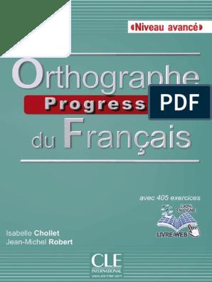 Orthographe Progressive Du Francais Avance Pdf