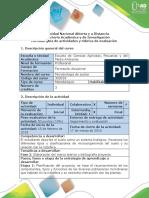 Guía de Actividades y Rúbrica de Evaluación - Fase 2 -  Teórico y Bibliografía Proyecto