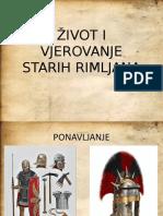 Život i Vjerovanja Starih Rimljana