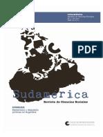 Sudamérica Revista de Ciencias Sociales